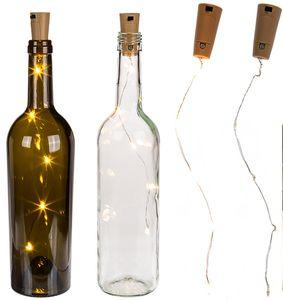 Flaschenkorken Lichterkette mit 5 LED in warmweiß