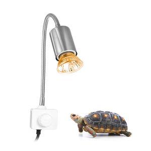 25W Halogen-Waermelampe UVA UVB Sonnenlampe Heizlampe fuer Reptilien Eidechse Schildkroete Aquarium