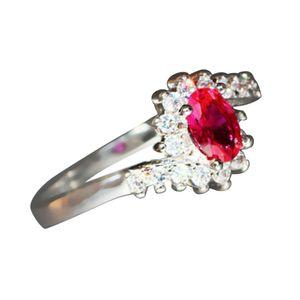 Exquisite 925 Sterling Silber Saphir Edelsteine ??Braut Verlobungsring