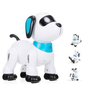 LE NENG K21 Elektronischer Roboter Hund Stunt Hund Fernbedienung Roboter Hundespielzeug Sprachsteuerung Programmierbare Touch-Sense Musik Tanzspielzeug fuer Kinder Geburtstag Weihnachtsgeschenk Kuscheltier