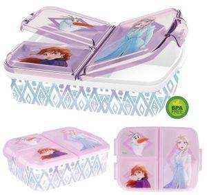 Eiskönigin 2 Brotdose mit 3 Fächern, Anna und Elsa Kinder Brotdose, Lunchbox, Sandwichbox, Bentodose, Frozen BPA frei, Kindergarten, Geburtstag (Eiskönigin 2)(2021)