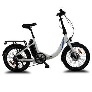 Mini Urbanbiker E-Bike Klapprad 20 Zoll, 36V 14Ah (504Wh) Akku, 250W Motor Faltrad Pedelec Weiß
