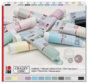 "Marabu Kreidefarbe ""Chalky-Chic"" 12 x 100 ml"