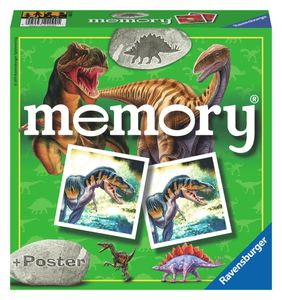 Ravensburger Dinosaurier memory, Lernspiel, Kinder, 15 min, Junge/Mädchen, 72 Stück(e), Mehrfarben