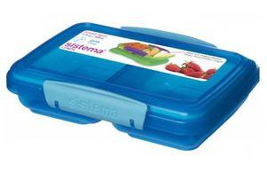 Sistema - Lunchbox Small Split farblich sortiert 2fach unterteilt