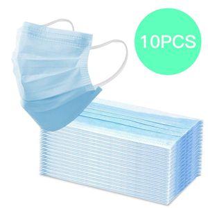 10 Stück Einweg OP-Maske Mundschutz Staubschutz Infektionsschutz Schutzmaske Atemschutzmaske