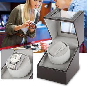 1Uhr Automatisch Uhrenbeweger Uhrenbox Watchwinder Box Uhrenkasten Einzelner 100-240V für 2 Uhren WatchWinder