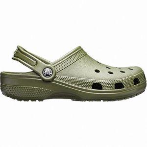 Crocs Classic Damen, Herren Crocs army green, Massage Fußbett, verstellbarer Fersenriemen