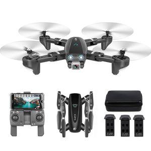 CSJ S167GPS Drohne mit Kamera 4K Kamera 5G WIFI FPV Drohne Wegpunkt Fliegen Geste Fotos Video Auto Return Home RC Quadcopter 3 Batterie Handtasche