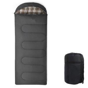 Profi Umschlag Mumienschlafsack Schlafsack -10°C Deckenschlafsack Erwachsene 212X140.5cm Wasserdicht Schwarz