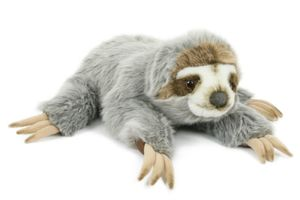 Plüschtier Faultier liegend 34cm, Kuscheltiere Stofftiere Faultiere Tier Tiere