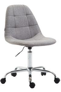CLP Bürostuhl Reims Stoff höhenverstellbar und drehbar, Farbe:grau