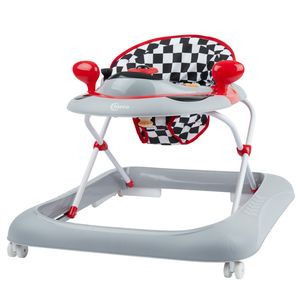 Bieco Baby Lauflernhilfe | 3in1 | Gehfrei Baby ab 6 Monaten | Baby-Walker | Spielcenter mit Aktivität&Melodien | Rennwagen rot | Kippsicher und Höhenverstellbar | Kinder Lauflernhilfe
