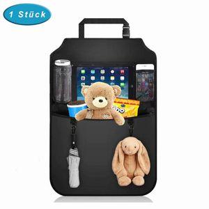 Premium Auto Rückenlehnenschutz (1 Stück), Rücksitz-Organizer für Kinder mit Durchsichtigem Großen Tablet iPad Fach, Autositzschoner Wasserdicht, Kick-Matten-Schutz für Autositz