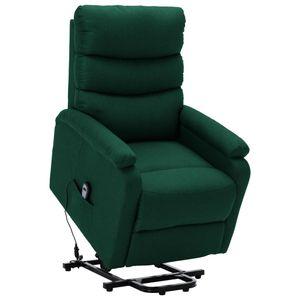 vidaXL Sessel mit Aufstehhilfe Dunkelgrün Stoff
