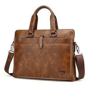 Männer Leder Laptop Tasche Business Handtasche messenger Tasche braun Aktentaschen