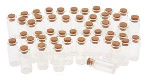 48 Glasröhrchen mit Korken, H ca. 5 cm, VBS Großhandelspackung