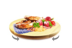 Drehteller Pizzateller Vesperteller Drehbrett Käseteller Servierplatte 30cm