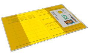 1 Stück Impfpasshülle 199x135mm faltbar mit Kartenfach