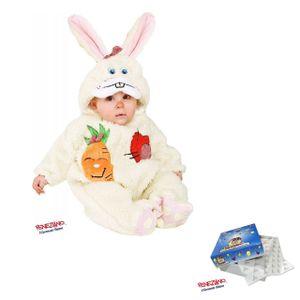 Baby-Faschings-Overall 88086, ab 3 Monate, Hasen-Kostüm Kapuze Klettverschluss