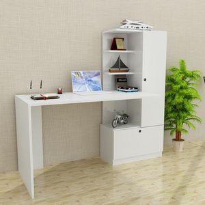 Schreibtisch Weiß Merinos | (B/H/T) 149,5 cm/120 cm/61,8 cm