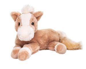 Uni-Toys - Pferd hellbraun, liegend - superweich - 28 cm (Länge) - Plüsch-Pferd - Plüschtier, Kuscheltier