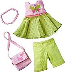 Haba kleidungsset Vlinder30 cm grün/rosa