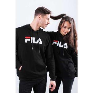FILA Pure 1er Pack Unisex Hoodie Sweatshirt für Damen oder Herren Schwarz, Größe:S