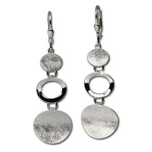 SilberDream Ohrhänger für Damen 925 Silber silber Elemente Ohrringe SDO345J