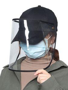 Uni Baseballkappe Anti-Staub Anti-Wind Einstellbar Abnehmbare Transparente Schild Außenkappe【 Schwarz】