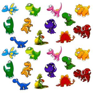 Oblique Unique 24 Dino Sticker Dinosaurier Aufkleber Kinder Geburtstag Spielen Basteln