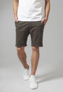 Urban Classics Shorts Stretch Turnup Chino Shorts Darkolive-38