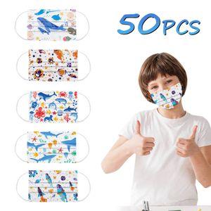 50 Stück Kinder Maske Einweg Kinder Mundschutz Masken Mundschutzmasken Gesichtsmasken Weihnachtskindermaske