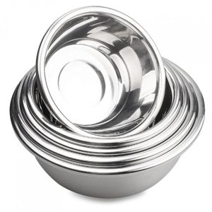 39cm Salatschüssel Schüssel Schale Backschüssel EDELSTAHL Rührschüssel Küchenschüssel
