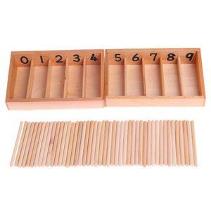Montessori Holz Spindel Box 45 Spindeln Mathematik Zählen Pädagogisches Spielzeug Holz Farbe