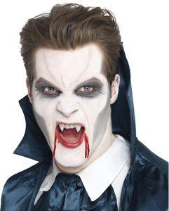 Halloween Zubehör Vampir Zähne weiß mit Kleber zum Kostüm
