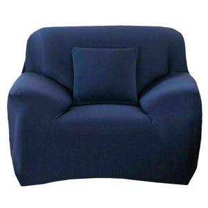 1 Sitzer Sofahussen Sofabezug Stretch elastische Sofahusse Sofa Abdeckung Sofabezüge Universal Stretchhussen Sesselbezug 90-140cm, Marineblau