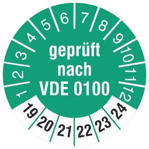 1000 Prüfplaketten 18 mm Prüfetiketten  nach VDE 0100 2019-2024