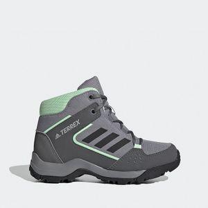 adidas Terrex Hyperhiker K Kinder Wanderschuhe Trekking Stiefel Schuhe Grün-Grau, Größe:32