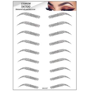 6D Hair-Like Authentic Eyebrows Grooming Shaping Brow Shaper Makeup Brow sticker
