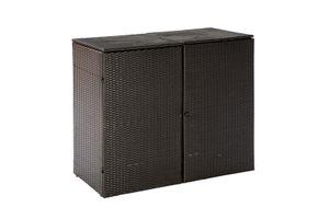 Merxx Mülltonnenabdeckung, 2er klein - Farbe: braun - Maße: 129 cm x 66 cm x 109 cm; 28948-210