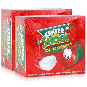 Center Shock Rolling Cherry 100 Stück - Extra saurer Kaugummi 400g (2er Pack)