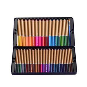 Professionelle 72 Buntstifte-Set Vorgespitzte wasserlösliche Buntstifte mit Pinsel Schützende Aufbewahrungsbox für Studenten Kinder Erwachsene Künstler Kunst Zeichnen Skizzieren Schreiben Kunstwerk Malbücher