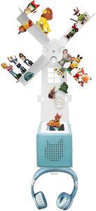 Toniebox® Regal Windmühle für über 42 Tonies®, Zubehör für die Tonies® und Toniebox® - Geeignet für über 42 Tonies® - Magnetisch beliebig fixierbar - Mit Kopfhörer Halterung
