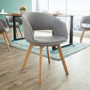 Design Stuhl NORDIC STAR mit Beinen aus Eiche grau