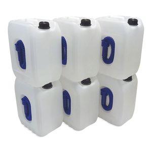 6 x 10 L Leerkanister für Ad-Blue Farbe natur Ad-Blue Kanister NEU (ohne Inhalt)