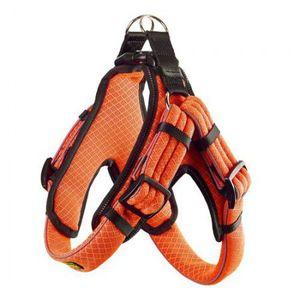 Hunter Geschirr Manoa Vario Quick Light XL 75-85 cm 33 mm, Mesh orange mit refl. Bise