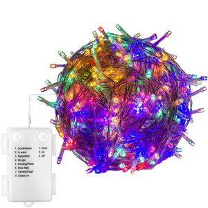 VOLTRONIC® 100 LED Lichterkette, bunt, Batt