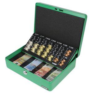 HMF 10015-06 Geldkassette Euro-Münzzählbrett, Geldzählkassette, 30 x 24 x 9 cm, grün