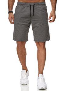Reslad Sweat-Shorts Herren Basic Sport Freizeit Kurze Sweat-Hose RS-5061 Anthrazit S
